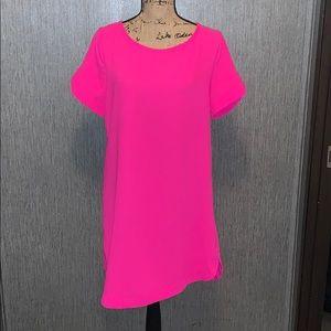 Mittoshop Asymmetrical Short Sleeve Dress Size L